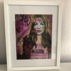 Kate Moss Artwork in Frame